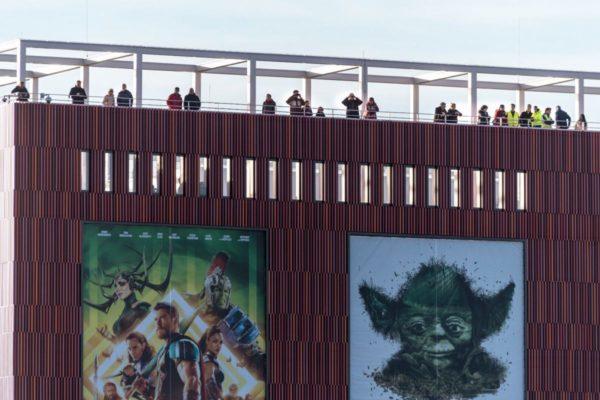 Vanaf de Cinemec had je een prachtig uitzicht op de werkzaamheden