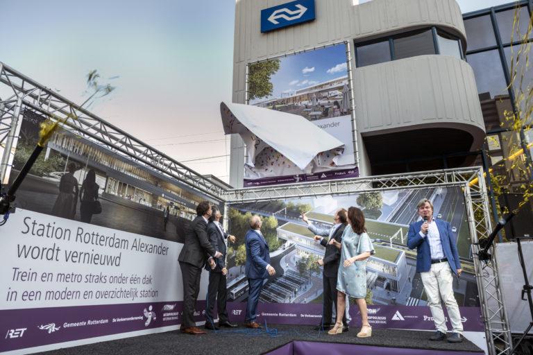 Bouw station Rotterdam Alexander officieel gestart